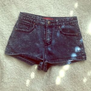 F21 High waisted denim shorts
